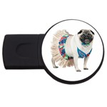 Pug In A Dress ^ USB Flash Drive Round (4 GB)