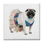 Pug In A Dress ^ Tile Coaster