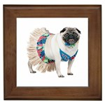 Pug In A Dress ^ Framed Tile