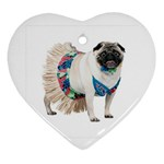 Pug In A Dress ^ Ornament (Heart)