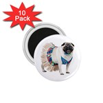 Pug In A Dress ^ 1.75  Magnet (10 pack)