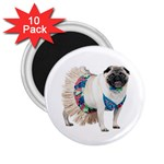 Pug In A Dress ^ 2.25  Magnet (10 pack)