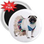 Pug In A Dress ^ 3  Magnet (10 pack)