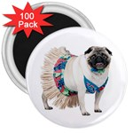 Pug In A Dress ^ 3  Magnet (100 pack)