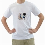 Pug In A Dress ^ White T-Shirt