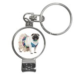 Pug In A Dress ^ Nail Clippers Key Chain
