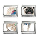 Pug In A Dress ^ 9mm Italian Charm (4 pack)