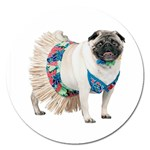 Pug In A Dress ^ Magnet 5  (Round)