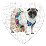 Pug In A Dress ^ Jigsaw Puzzle (Heart)