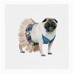 Pug In A Dress ^ Glasses Cloth (Medium