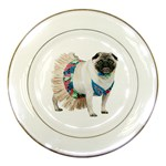 Pug In A Dress ^ Porcelain Plate
