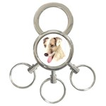 Jack Russell Terrier ^ 3-Ring Key Chain
