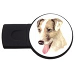 Jack Russell Terrier ^ USB Flash Drive Round (4 GB)