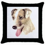 Jack Russell Terrier ^ Throw Pillow Case (Black)