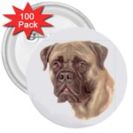 Bull Mastiff ^ 3  Button (100 pack)