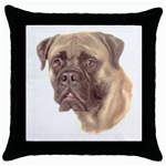 Bull Mastiff ^ Throw Pillow Case (Black)