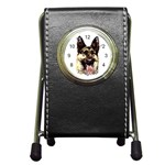 Alsatian ^ Pen Holder Desk Clock