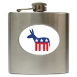 DNC Donkey ^ Hip Flask (6 oz)