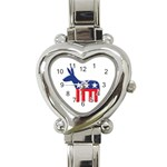 DNC Donkey ^ Heart Italian Charm Watch