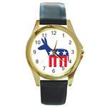 DNC Donkey ^ Round Gold Metal Watch