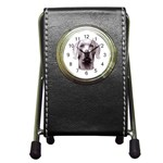 Weimaraner ^ Pen Holder Desk Clock