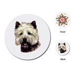 Cairn Terrier ^ Playing Cards (Round)