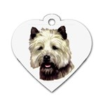 Cairn Terrier ^ Dog Tag Heart Necklace (Two Sides)
