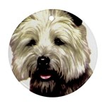 Cairn Terrier ^ Round Ornament (Two Sides)