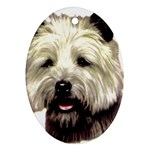Cairn Terrier ^ Oval Ornament (Two Sides)