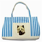 Cairn Terrier ^ Striped Blue Tote Bag