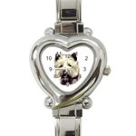 Cairn Terrier ^ Heart Italian Charm Watch