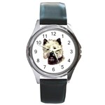 Cairn Terrier ^ Round Metal Watch