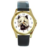 Cairn Terrier ^ Round Gold Metal Watch
