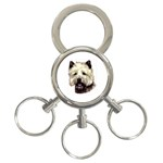 Cairn Terrier ^ 3-Ring Key Chain
