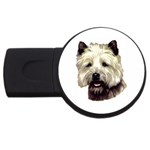 Cairn Terrier ^ USB Flash Drive Round (4 GB)