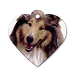 Collie ^ Dog Tag Heart Necklace