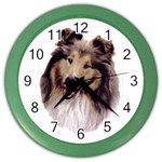 Collie ^ Color Wall Clock