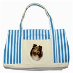 Collie ^ Striped Blue Tote Bag