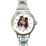 Collie ^ Round Italian Charm Watch