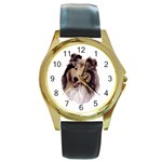 Collie ^ Round Gold Metal Watch