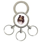 Collie ^ 3-Ring Key Chain