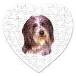 Bearded Collie ^ Jigsaw Puzzle (Heart)