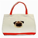 Pug ^ Classic Tote Bag (Red)