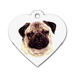 Pug ^ Dog Tag Heart Necklace