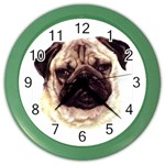 Pug ^ Color Wall Clock
