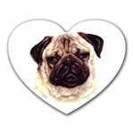 Pug ^ Mousepad (Heart)