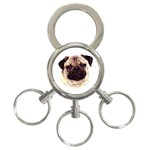 Pug ^ 3-Ring Key Chain