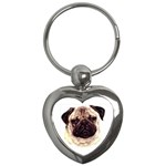Pug ^ Key Chain (Heart)