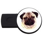 Pug ^ USB Flash Drive Round (1 GB)