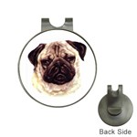 Pug ^ Golf Ball Marker Hat Clip